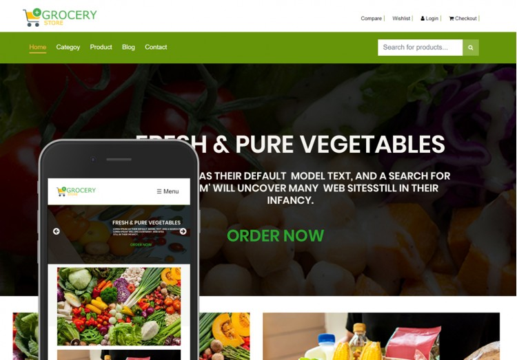 Grocery Store Bootstrap Template